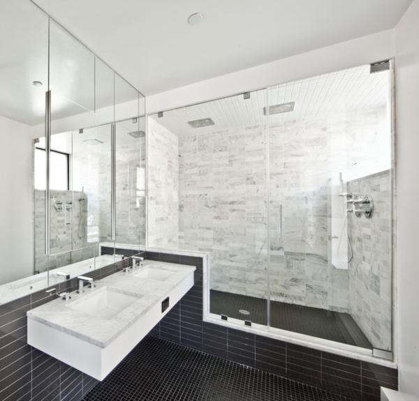 Gebadet in Farbe Wann verwendet man Schwarz im Badezimmer