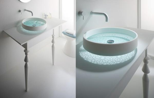 Glattes schickes Waschbecken Das Motiv Waschbecken von