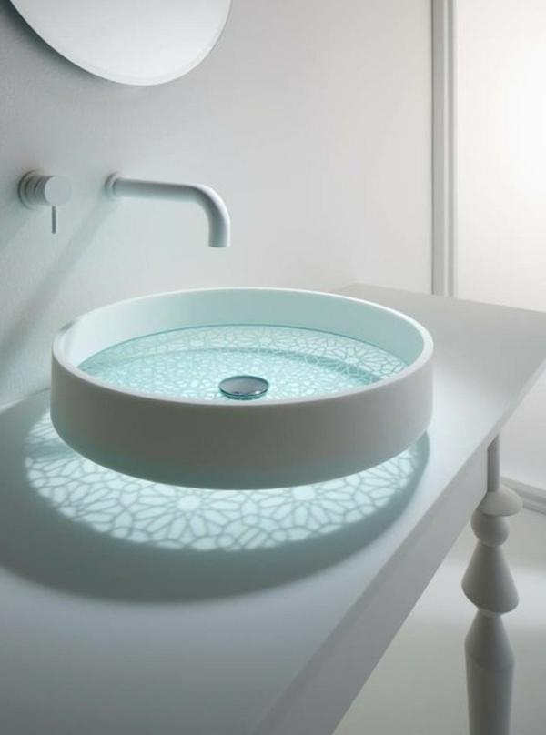 Glattes schickes Waschbecken Das Motiv Waschbecken von Omvivo