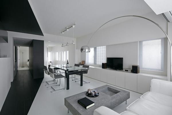 Trendy Wohnung in Schwarz und Wei Room 407 Projekt in Tokyo