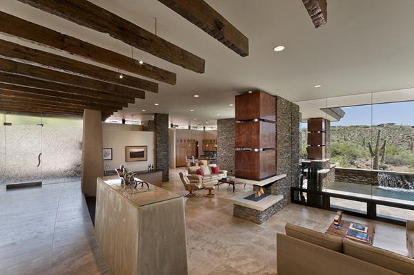 Ein Haus in Arizona verfgt ber ein gerumiges Interior