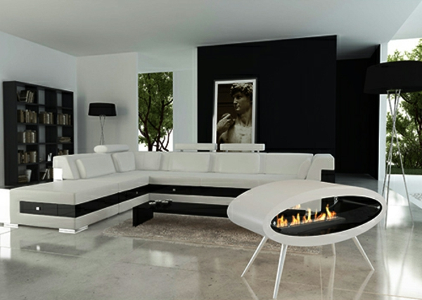 Design Moderne Wohnzimmer Wei A Moderne Ellipsenkamine H Ngen Von Der Decke