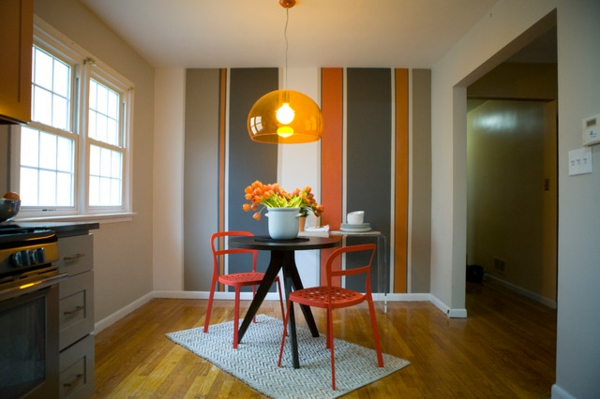 Ein Fest der Farben Wann sollte man Orange im Esszimmer benutzen