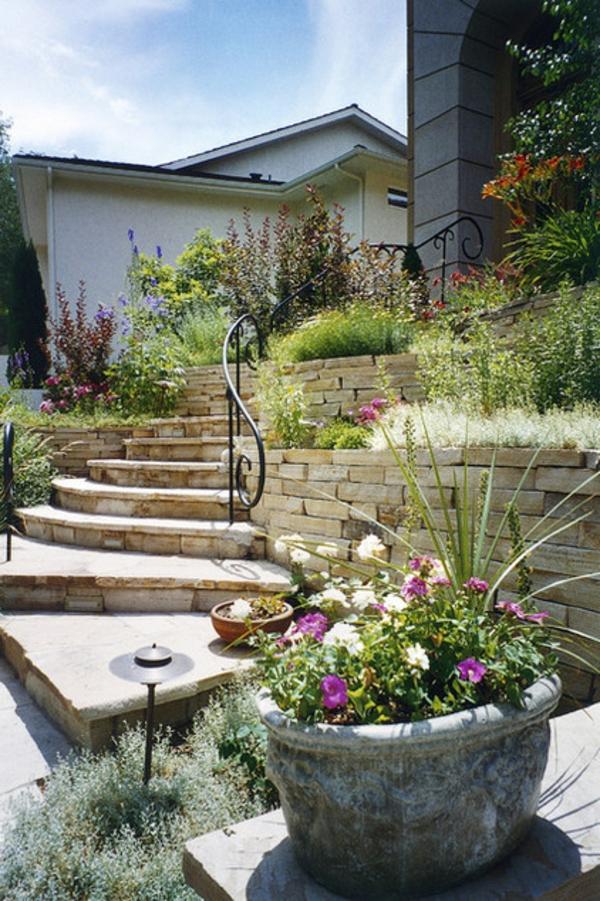 Schicke Gartengestaltung mit weniger Gras Sparen Sie Wasser