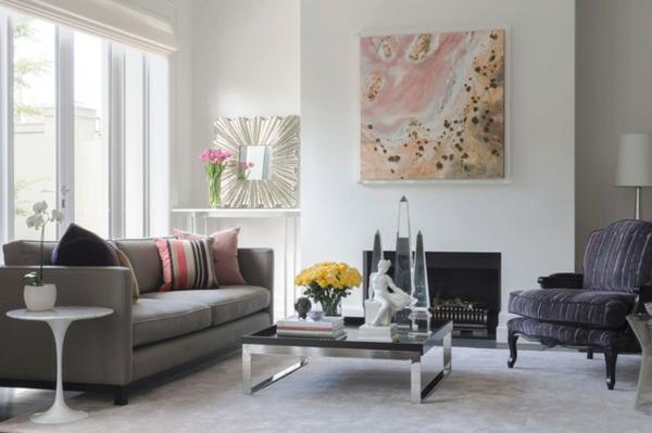 Ein Wohnzimmer voller Kunst und Schnheit