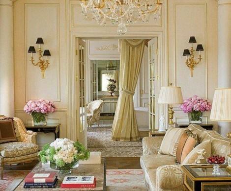 Ideen fr attraktive franzsische Wohnzimmer Designs