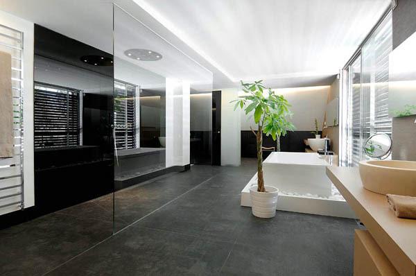 Ein modernes Haus in Madrid