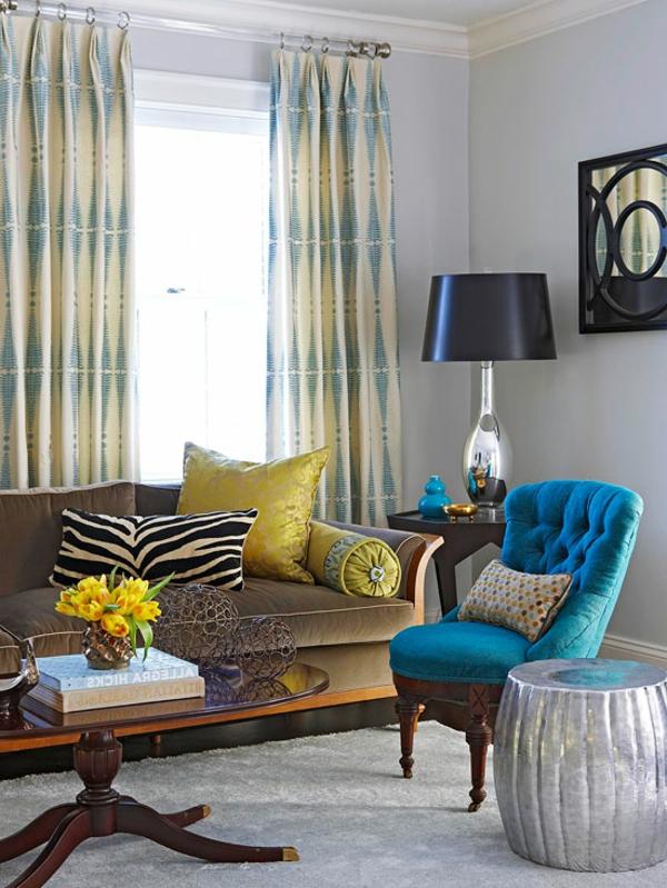 wohnzimmer braun blau. Black Bedroom Furniture Sets. Home Design Ideas