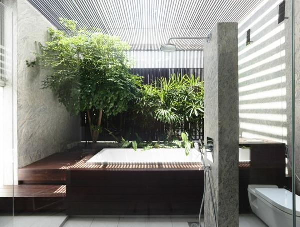 Elegantes Interior in einem modernen Haus in Singapur