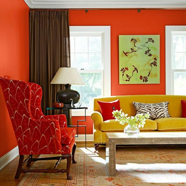 Tolle Interior Farben die die Atmosphre im Raum erfrischen