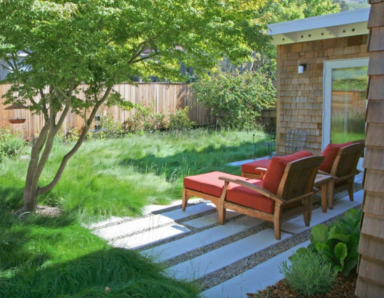 gartengestaltung ideen beispiele rasen vorgarten wasser sparen, Garten und erstellen