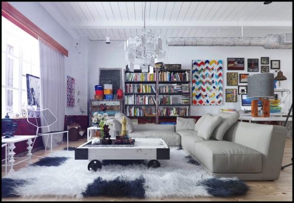 Wohnzimmer Gestaltungsideen  Haben Sie ein Regal fr alle Bcher