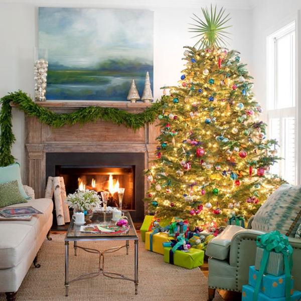 Schne Weihnachten Wohnzimmer