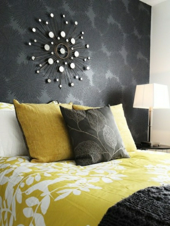 Tapete Grau Schlafzimmer | Tapete Wiese | Style Your Castle
