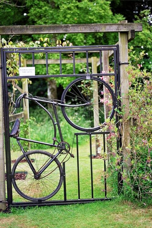 ▷ Kreative Garten Deko Ideen Mit Alten Fahrrädern