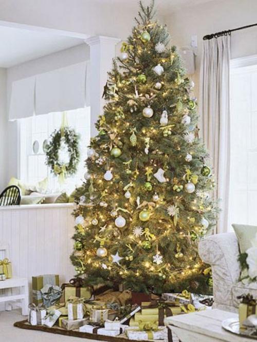 Traditionell geschmckter Weihnachtsbaum  Gefllt Ihnen