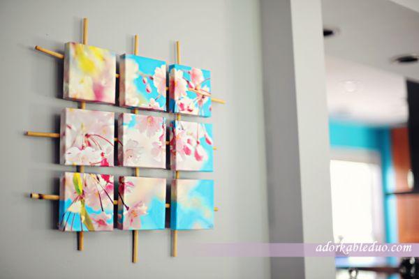 1001 Wanddekoration Ideen zum Selbermachen  40 kreative Fotobeispiele