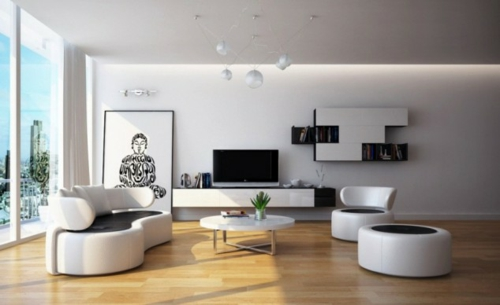 Moderne Wohnzimmer Schwarz Weiss sdatec.com