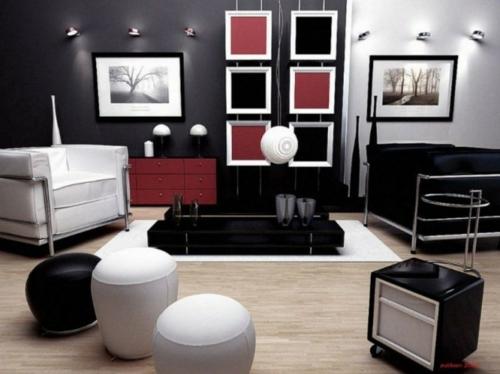Wohnzimmer Farben  bilden Sie schne Kontraste in SchwarzWei