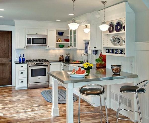 gray cabinets kitchen cheap hotels in negril with wie können sie schlau die kleine küche einrichten - 10 ...