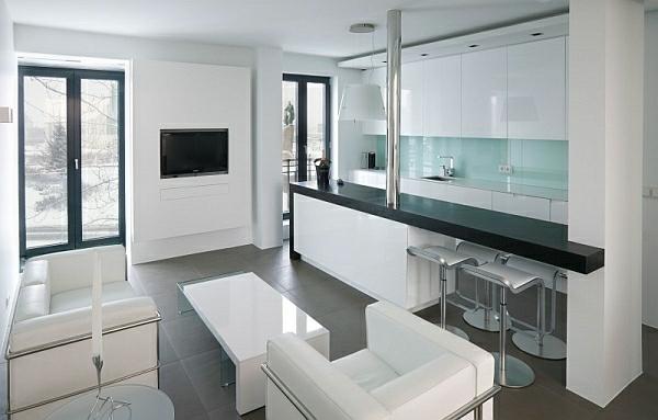 Kleines Wohnzimmer Mit Offener Küche   Wohnräume Gestalten Ideen