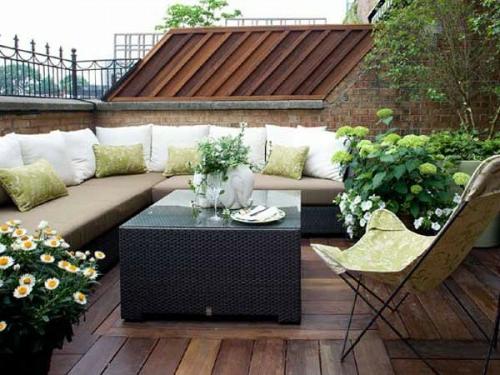 Terrasse Blumen Gestalten | Möbelideen