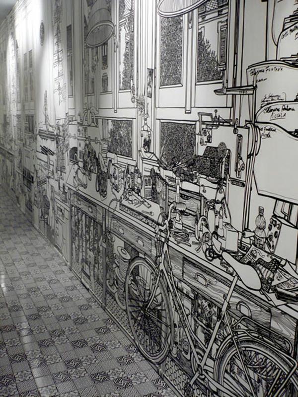 Wnde gestalten Ideen  die Wandbilder von Charlotte Mann