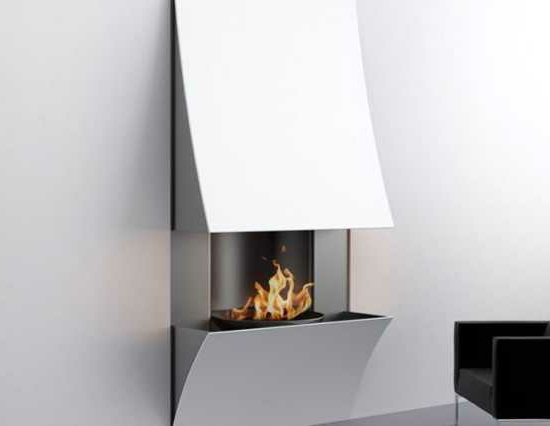 Winterliche Wohnideen  moderner Deko Kamin im Wohnzimmer