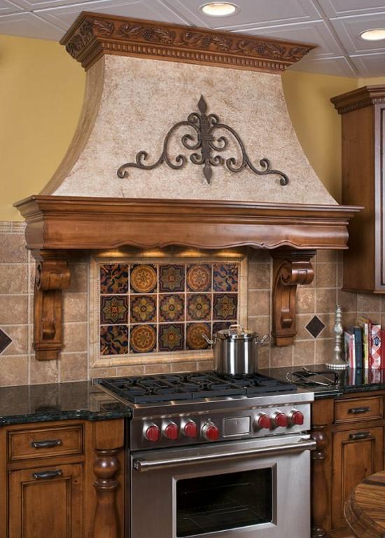 kitchen hood design art dunstabzugshaube in holz verkleidet für ihre klassische ...