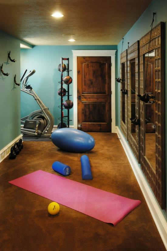 fitnessraum einrichten. Black Bedroom Furniture Sets. Home Design Ideas