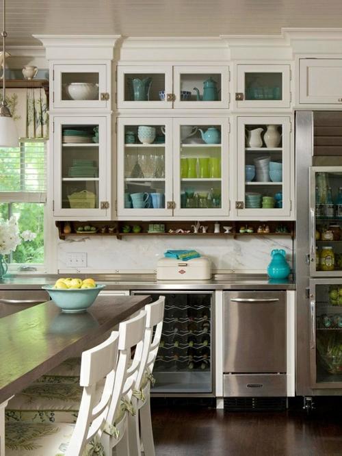 kitchen cabinets with glass best water filter system glasschränke und vitrinen - 20 design ideen für die ...