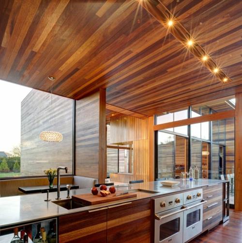 Kche aus Holz  schaffen Sie eine behagliche und warme Atmosphre