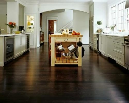 Kche mit Holzboden  Sind Sie Pro oder Contra