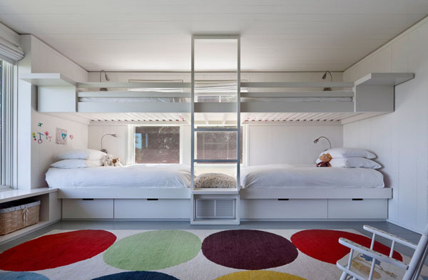 kinderzimmer mit hochbett robert young architects teppichboden ... - Kinderzimmer Teppichboden