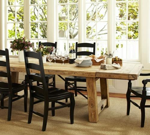 Rustikale Esstische  15 robuste und praktische Designs mit Stil