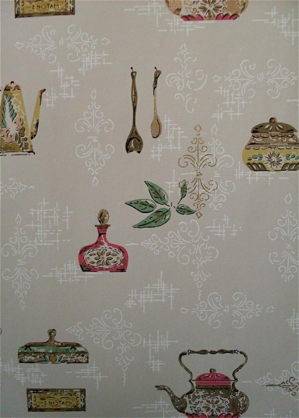Ideen fr tolle Tapeten Muster in der Kche