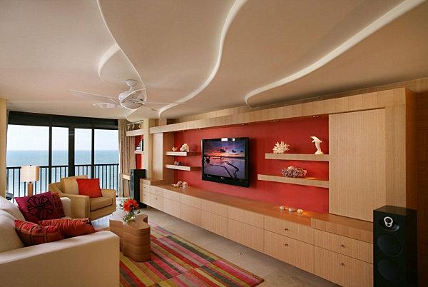 Wohnideen Wohnzimmer Rot