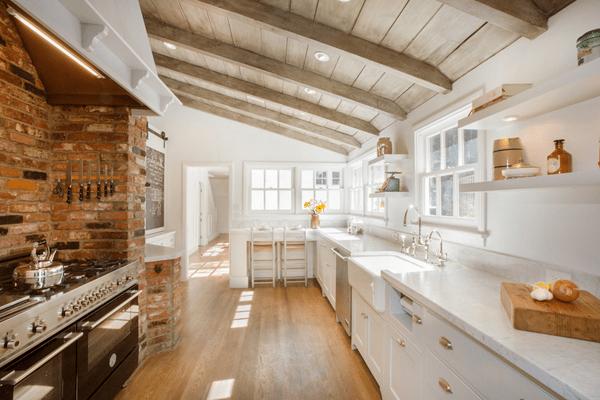 kitchen ceiling ideas nook lighting moderne rustikale interiors