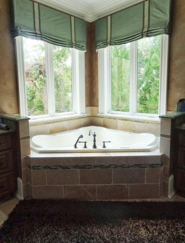 Dekoration Sichtschutz Badfenster L