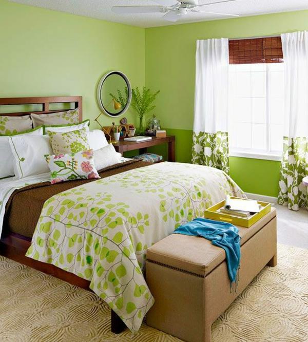 tapeten farbe schlafzimmer  wand und deckengestaltung