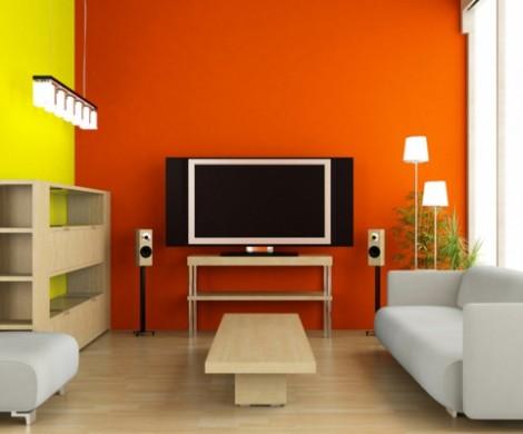 Emejing Wohnzimmer Orange Grau Gallery - Home Design Ideas ... Wohnzimmer Orange Braun