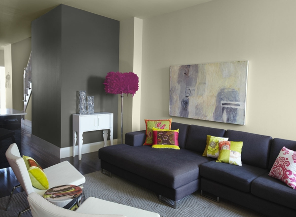 living room picture ideas small with black leather sofa wandfarben kombinationen, die ihre aufmerksamkeit anziehen