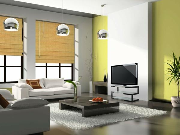 Grntne Wandfarbe sorgen fr eine frische und ruhige