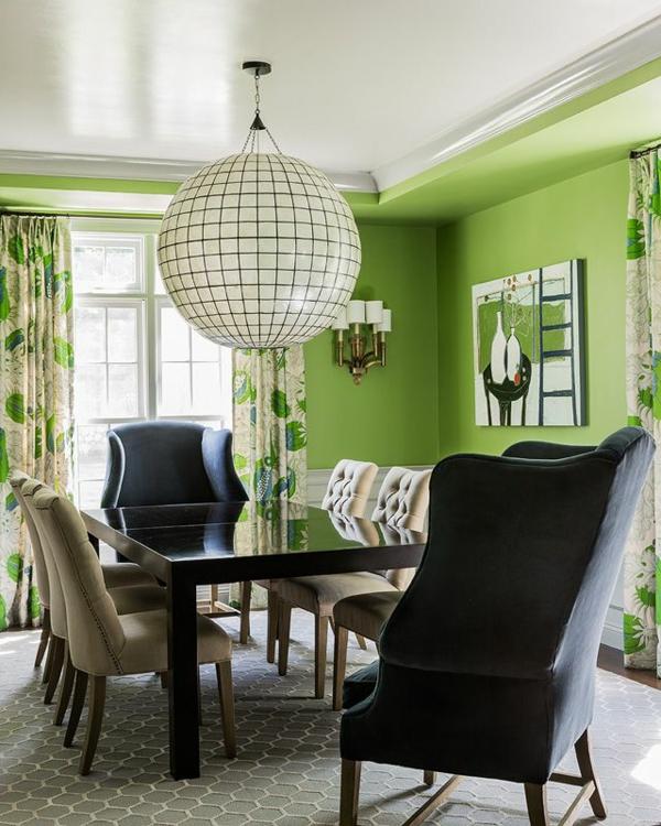 Grntne Wandfarbe sorgen fr eine frische und ruhige Zimmeratmosphre