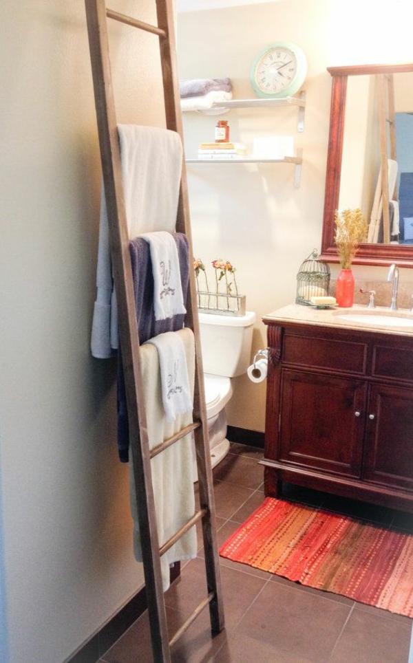Handtuchleiter aus Holz fr Ihr Badezimmer