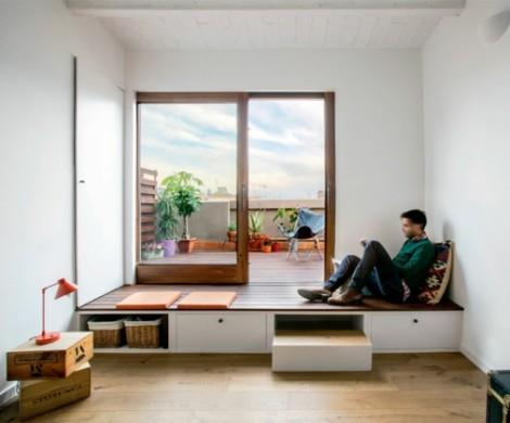 Kleine Wohnungen einrichten  Idee aus einem spanischen