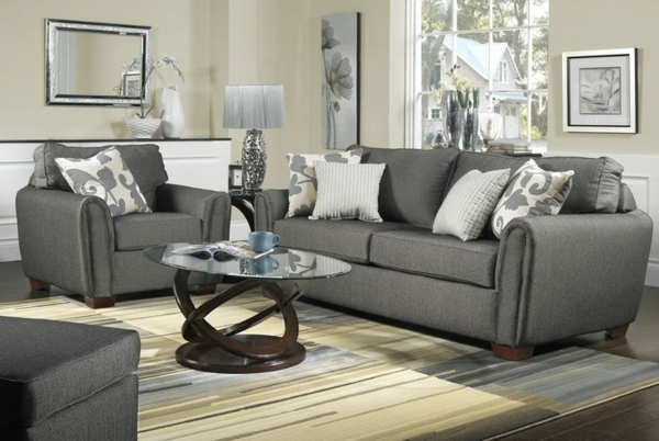 couch and sofas curved sofa bed inneneinrichtung ideen. trendfarbe grau für das innendesign