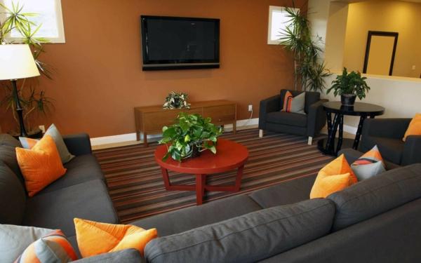 wohnzimmer grau orange » terrassenholz.club - Wohnzimmer Ideen Orange