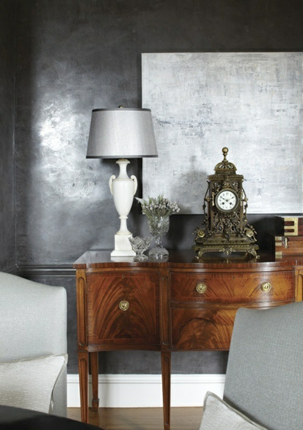 Metallic Wandfarbe fr ein luxurises Ambiente in Ihrer Wohnung