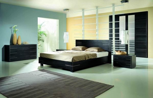 Moderne schlafzimmer einrichtung tendenzen  ideen : geräumiges moderne einrichtung schlafzimmer mit bad bad im ...